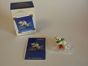 Hallmark-Keepsake-Ornament-2003-Cool-Decade-4-30-Year-Collectible-White-Fox-NIB
