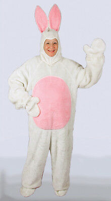 White Easter Bunny Rabbit Costume Suit with Hood Adult 1091 1092 1093 1094