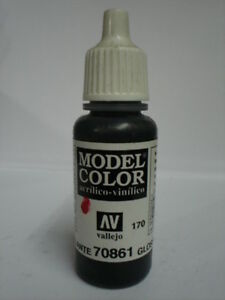 VALLEJO-COLORE-ACRILICO-170-GLOSSY-BLACK-861