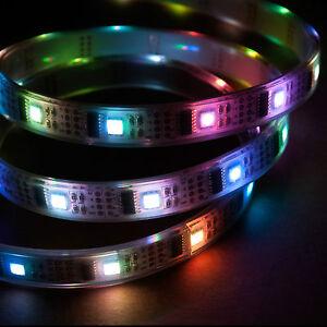 1m-RGB-LED-Light-Strip-5V-WS2801-Bonus-32-LEDs-Waterproof-Addressable-Color
