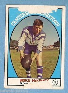 1968 - 1 SCANLENS RUGBY LEAGUE CARD #5 BRUCE McKINNEY, CANTERBURY