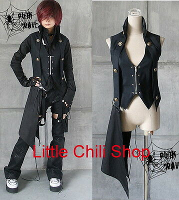 Japan street Unisex Visual KEI punk goth rock  kera rock vest top shirt size S-L