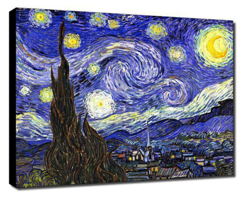 """20/""""x26/"""" Stretched Ready  to Hang on Canvas Vincent Van Gogh Starry Night"""
