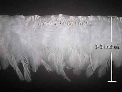 Coque feather fringe of white colour 2 yards trim
