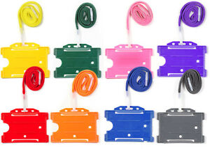 ID-Identity-Badge-Holder-Lanyard-For-ID-Card-Free-Delivery-Choose-Colour-Qty