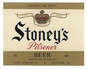 15-STONEYS-PILSENER-12-OZ-QUART-BEER-LABEL-LABELS-JONES-BREWING-SMITHTON-PA