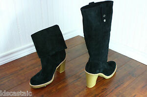 womens black ugg boots size 10