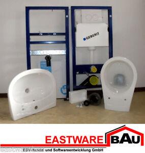 geberit wc waschtisch komplettset vorwandelement keramik wc sitz neu ebay. Black Bedroom Furniture Sets. Home Design Ideas