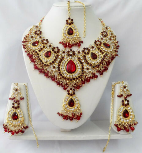 T9002 Indian Bollywood Fashion Costume Jewelry Kundan Jewellery Necklace Set