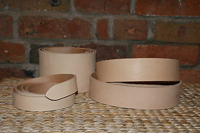 2.5mm  NATURAL VEG TAN LEATHER BELT STRAP/ BLANK  CHOOSE YOUR  WIDTH