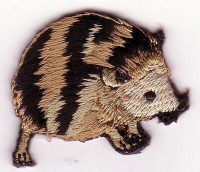 Small Forest Hedgehog Rodent Embroidery Applique Patch