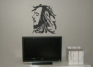 Bob marley and the lion of zion wall mural vinyl decal for Bob marley wall mural