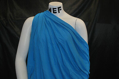 Bamboo Cotton Jersey Knit Fabric Eco-Friendly 8 oz High-End Caribbean Blue