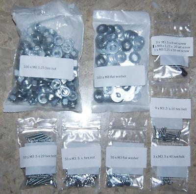 Prusa Mendel Reprap Metric Hardware Kit, Nuts, Washers, Bolts for 3D Printer