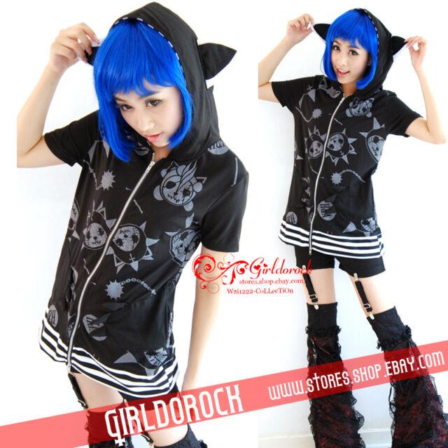 CAT HOODIE DOLLY Gothic Lolita kera 200677 Punk Cosplay Jacket TOP