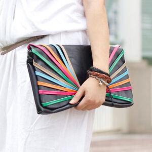 NWT-Lady-Women-Clutch-Chain-Purse-HandBag-Shoulder-Evening-Bag-Wallet-Coin-Dark
