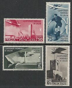Italy stamps 1934 YV Airmail 64-67 MLH VF