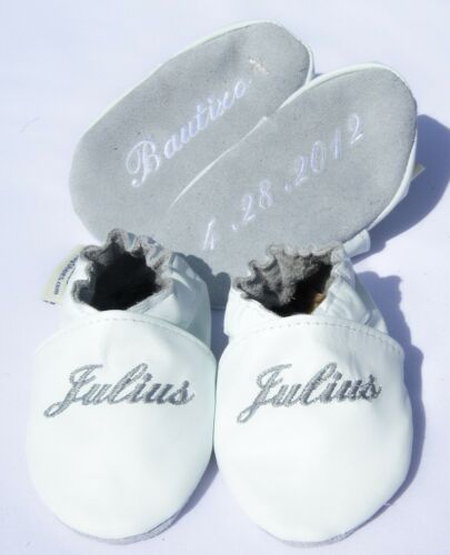 leather baptismal booties- baptism shoes-chrisening shoes- batism shoes -