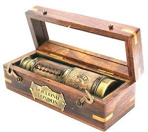 Brass-Pocket-Telescope-Ship-Telescope-16-034-inch-with-Hard-Wood-Box