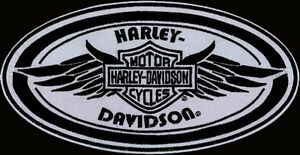 HARLEY DAVIDSON REFLECTIVE OVAL WING PATCH