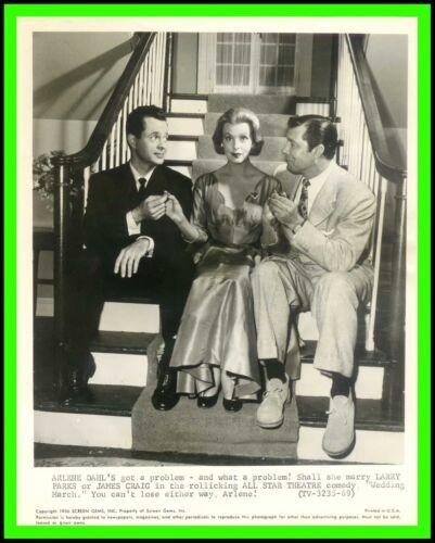 """ARLENE DAHL, LARRY PARKS & JAMES CRAIG in """"Wedding March"""" Original TV Phot. 1954"""