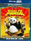 Kung Fu Panda (Blu-ray/DVD, 2012, 3-Disc Set, 3D)