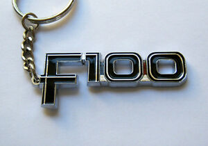 FORD-F100-KEY-CHAIN-NEW-CHROME-KEY-RING-keyring