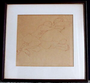 Original-Nude-Drawing-of-Couple-by-Frank-Eliscu-Signed-Fine-Art