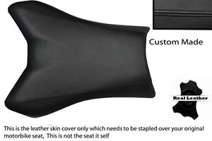 BLACK CUSTOM FITS YAMAHA FAZER FZ1 06-12 100% LEATHER SEAT COVER