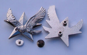 Flying-Eagle-Chrome-Bolt-On-Badge-on-a-3D-Star-Motorcycle-Curiser-Bike-Trike