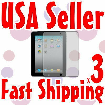 3x Anti Glare Screen Protector for Apple New iPad 3rd Generation 3G 4G LTE WiFi