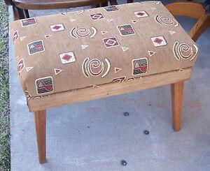 Walnut-Retro-Print-Bench-Vanity-Bench-ST25