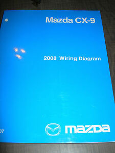 2008 mazda cx 9 wiring diagram service manual shop repair ebay