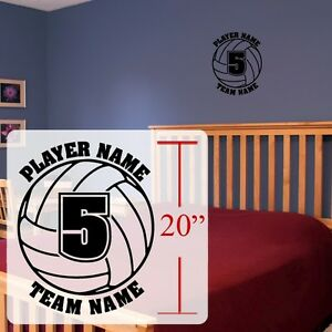 Volleyball Wall Decal Personalized Volleyball Room Stickersvinyl - Vinyl volleyball wall decals