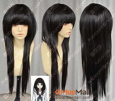 Hyouka Chitanda Eru 80cm Black Lolita Cosplay Party Wig