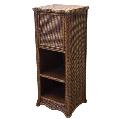 Brand New Rattan /& Wicker Country Living Room Display Cabinet