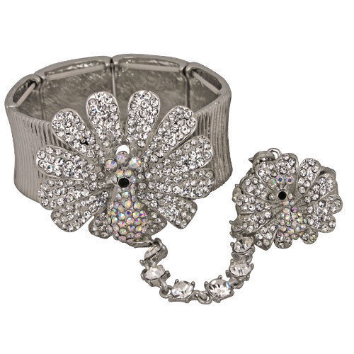 Kirks Folly Peacock party stretch bracelet and ring set  S3297W