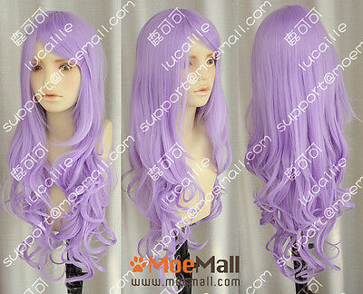 90cm Light Purple Wavy Lolita Princess Party Cosplay Wig