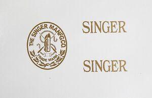 Singer Model 20 Toy Sewing Machine Restoration Waterslide Decals