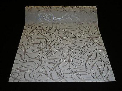 1320-17) 1 Rolle hochwertige DESIGN Vlies Tapete Grau Glanzeffekt