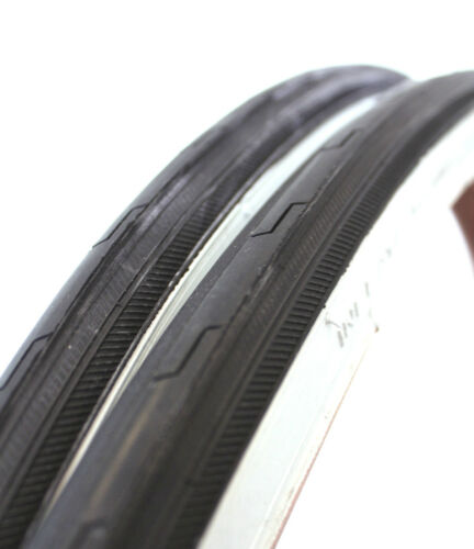 PAIR 27 x 1 1/14 inch Whitewall Bicycle Tires White Wall Tyres Retro Road Bikes