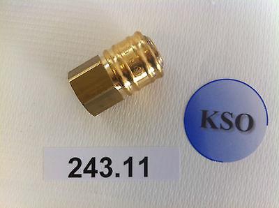 """Kupplungsdose Druckluftkupplung NW 7,2 1/4"""" IG & AG Messing Pneumatik Druckluft"""