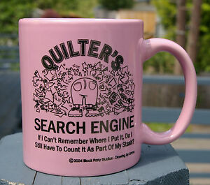 Quilter's Search Engine Quilt Coffee Mug Pink Block Party Stash ... : quilt search engine - Adamdwight.com