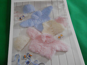 Babys-loopy-cardigan-gilet-and-hat-size-12-to-size-22-knitting-pattern