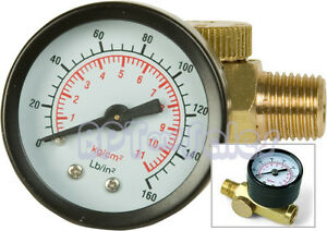 New-Air-Pressure-Regulator-w-Gauge-150PSI-Air-Tool-Regulator-1-4-034-NPT-Air-Tool