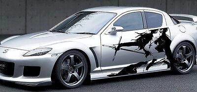 Custom Wrap CAR VINYL GRAPHICS ANIME GIRL WITH A CROSS 005