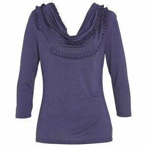 new-RRP-70-JACQUI-E-COWL-NECK-STRETCH-TOP-BLOUSE-XL-more-sz-in-store
