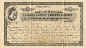 Columbian-Magazine-Publishing-Company-gt-1910-old-paper-stock-certificate-share