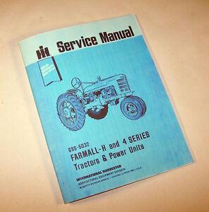 farmall h hv tractor service manual repair international ih rh ebay com 1946 Farmall H Shift Pattern Farmall H -Series Tractor