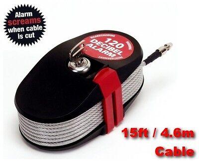 460 CM CABLE LOCK ALARM KEY SECURITY FOR CARAVAN BIKE BOAT MOTORBIKE CAMPING NEW